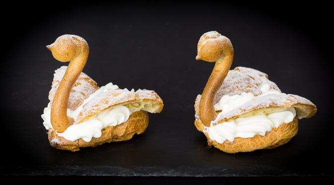 Cream Puff Swans