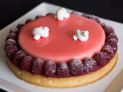 Raspberry Lychee Tart