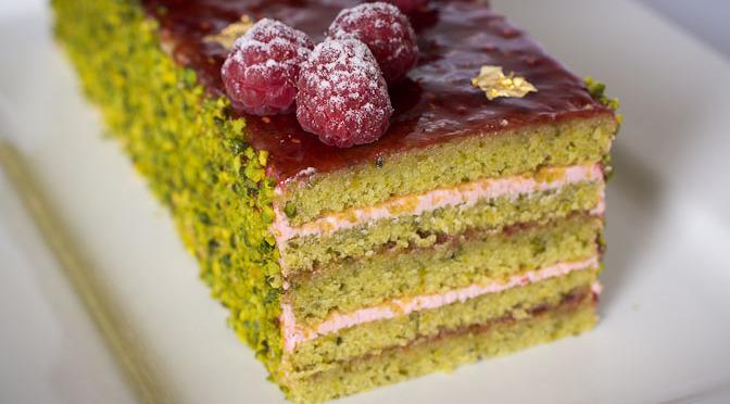 Pistachio Raspberry Loaf