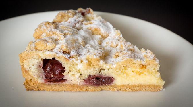 Cherry Crumble Tart