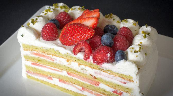 Pistachio Strawberry Shortcake