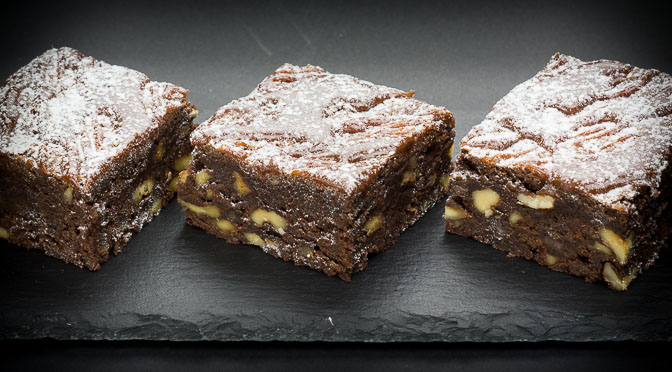 Caramel Walnut Brownies