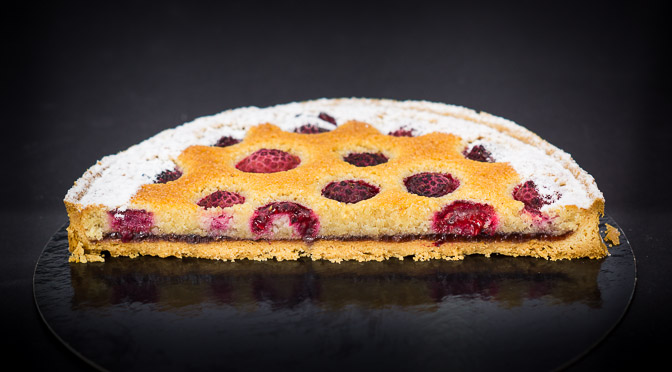 Raspberry Financier Tart