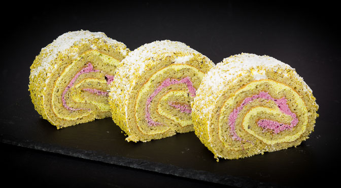 Double Pistachio Roll