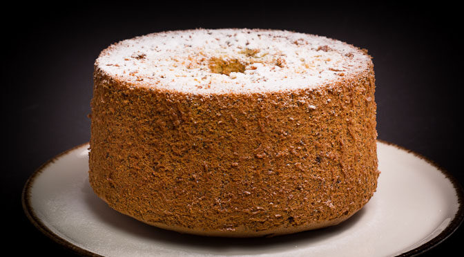 Apricot Poppy Seed Chiffon Cake