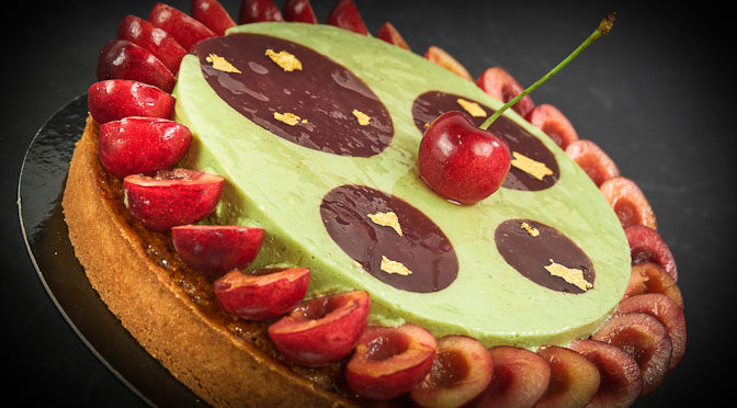 Pistachio Cherry Tart